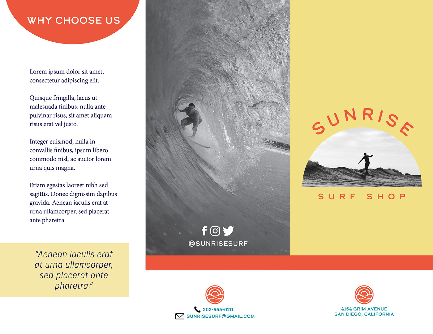 Surf Shop Brochure on Behance