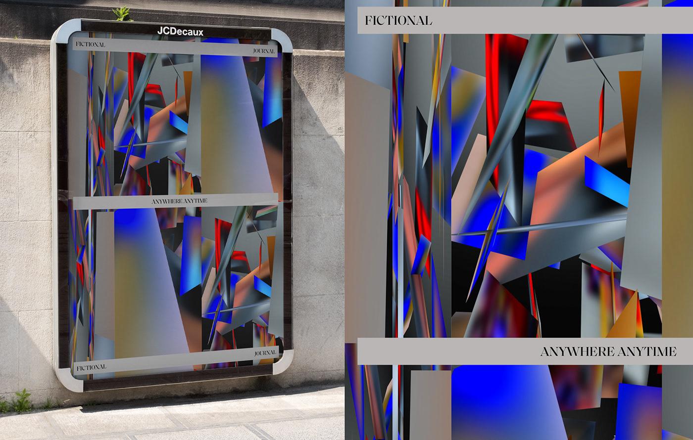 3D motion identity branding  animation  baka baka gabriela fictional journal anywhere