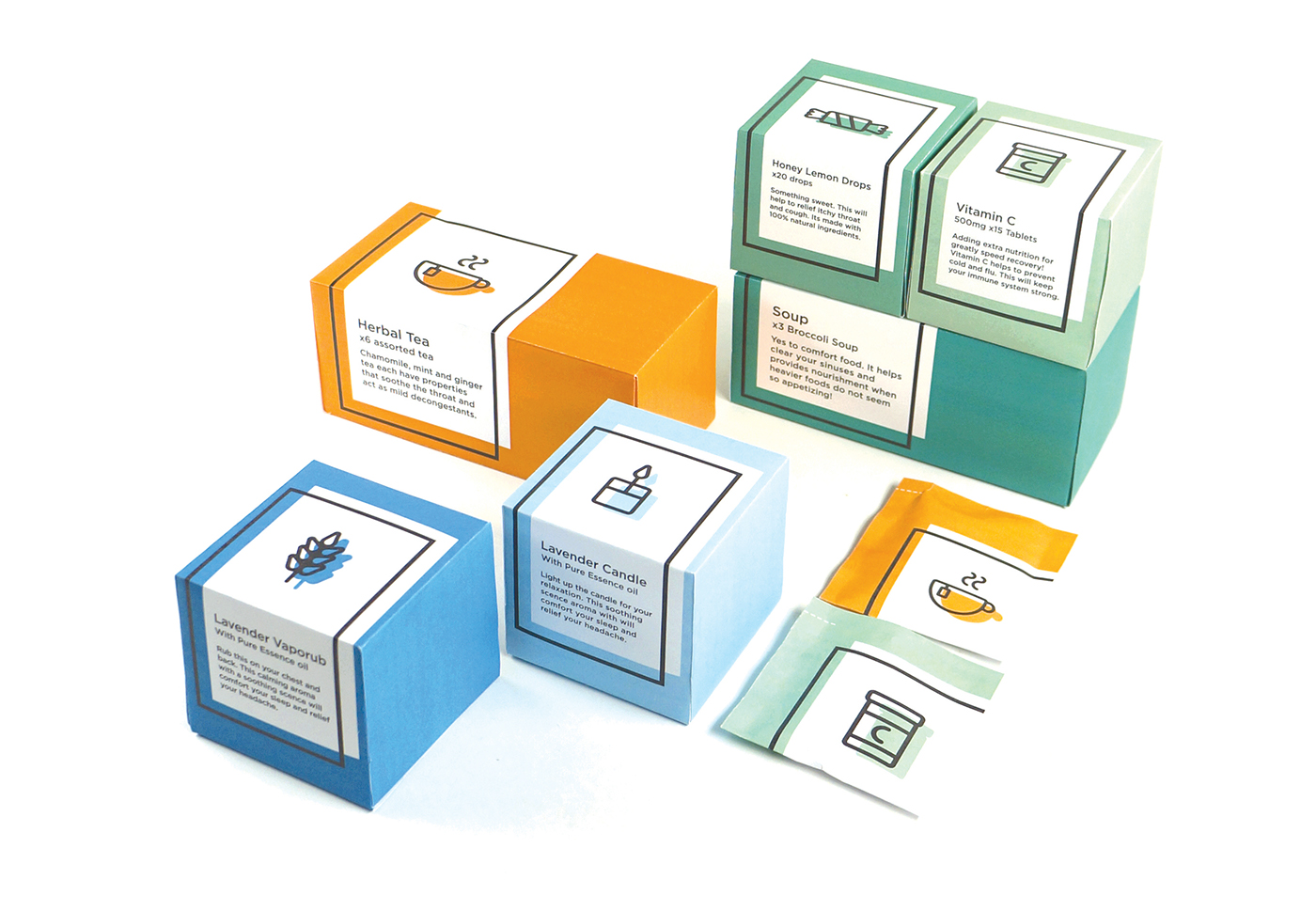 getwell icons design graphic clean minimal functional ysdn adaa_2015 adaa_school york_university_/_sheridan_college ADAA_Country Canada adaa_packaging