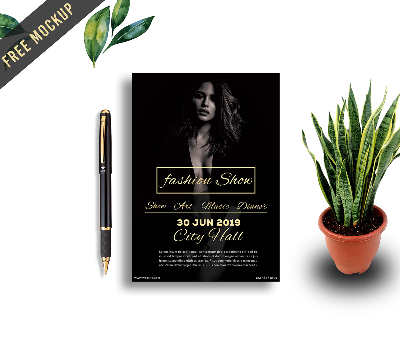 Free High quality Flyer Mockup PSD