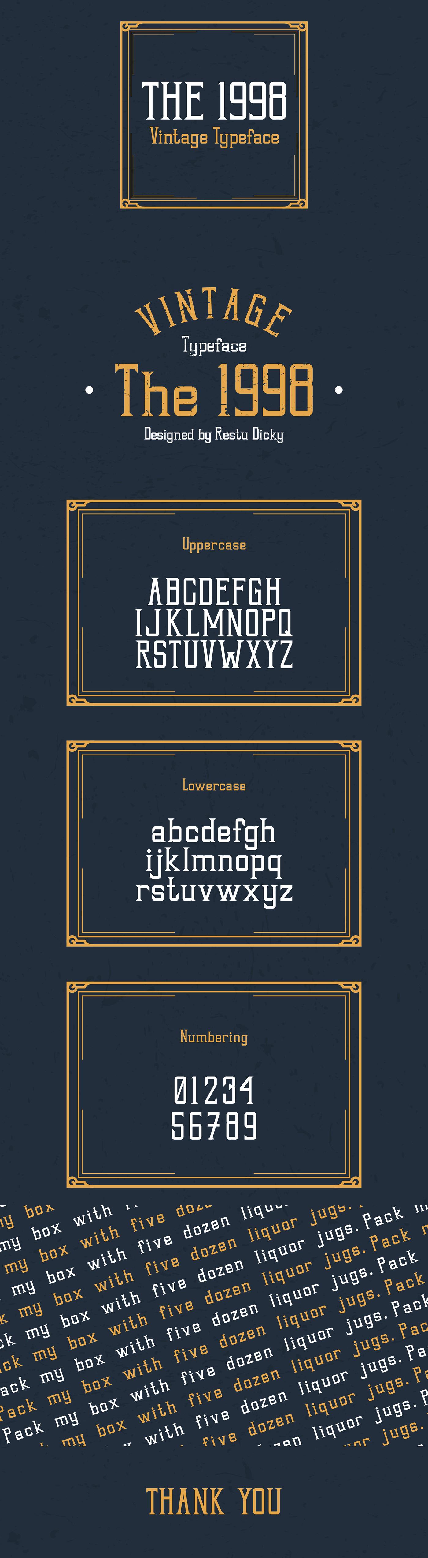 Typeface typography   type designer vintage style old style vintage type