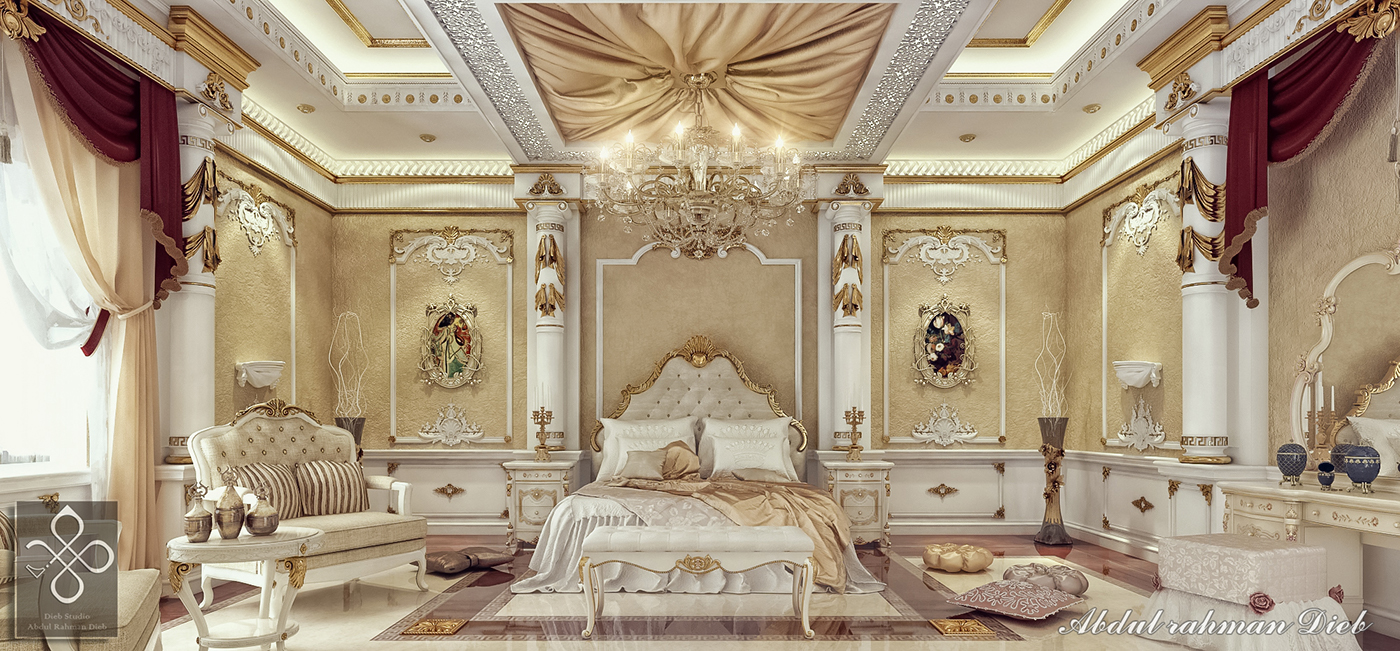Bedroom in ksa on behance for Bedroom designs royal