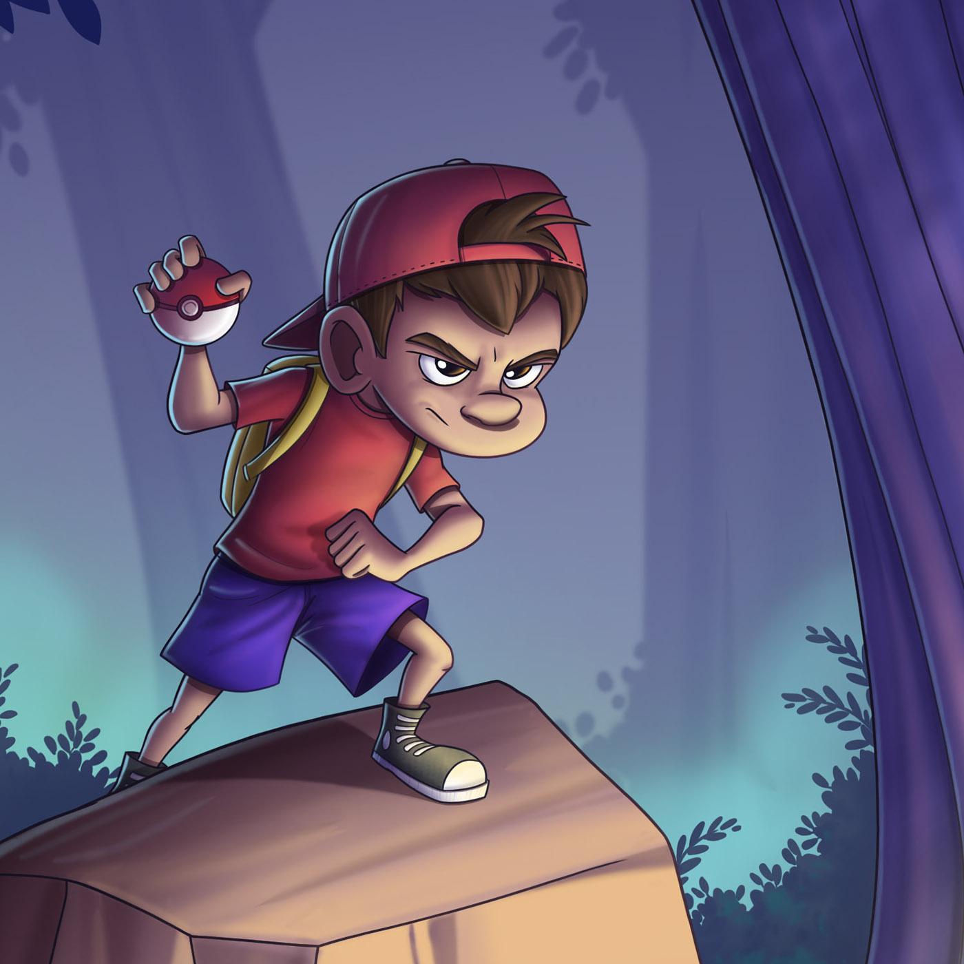 Pokemon ILLUSTRATION  Fan Art portfolio Character design  Digital Art  Charizard cave quest Game Art