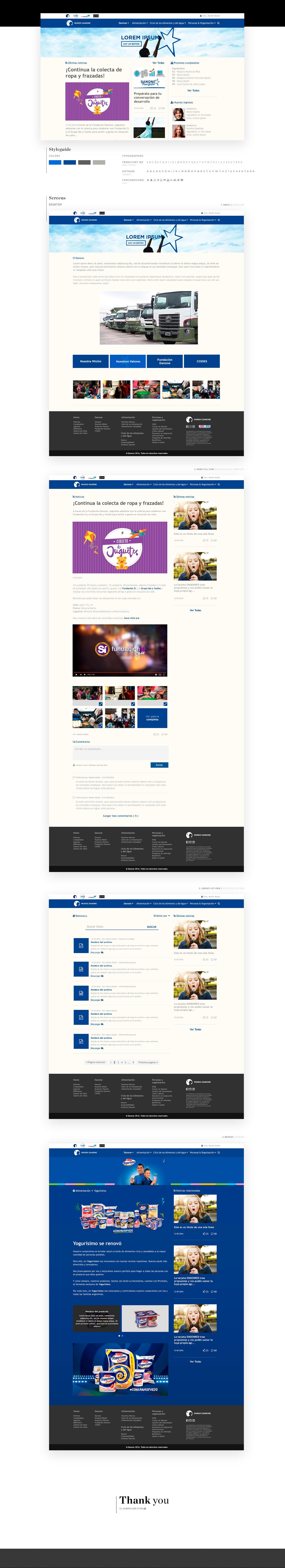 mundo Danone blue Web Design  kids Intranet