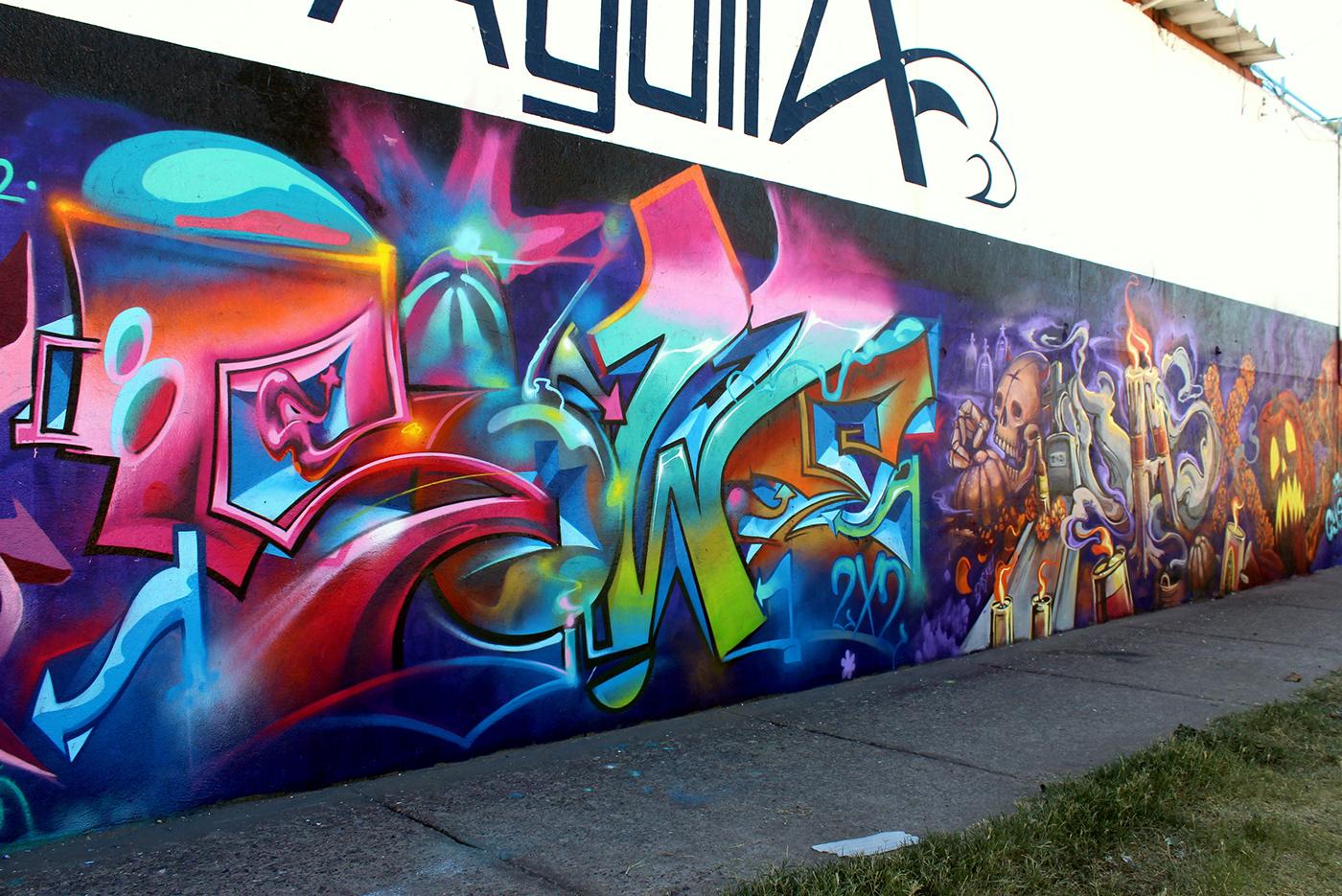 Image may contain: graffiti, abstract and colorful