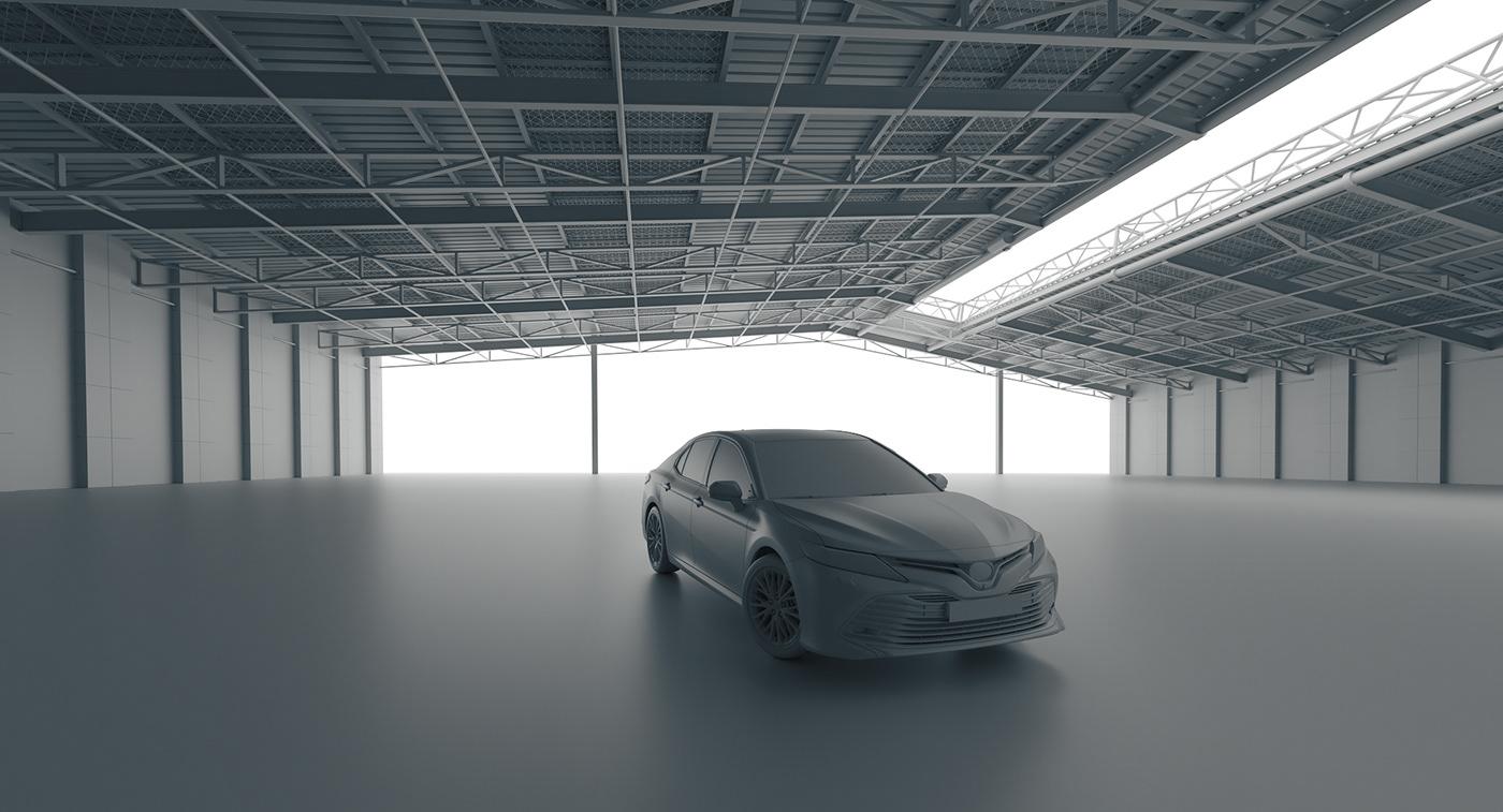 3D toyota car CGI