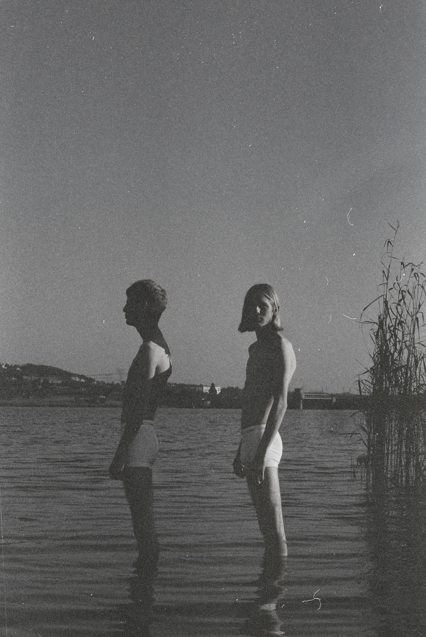 black and white conceptual Film   Photography  Twins