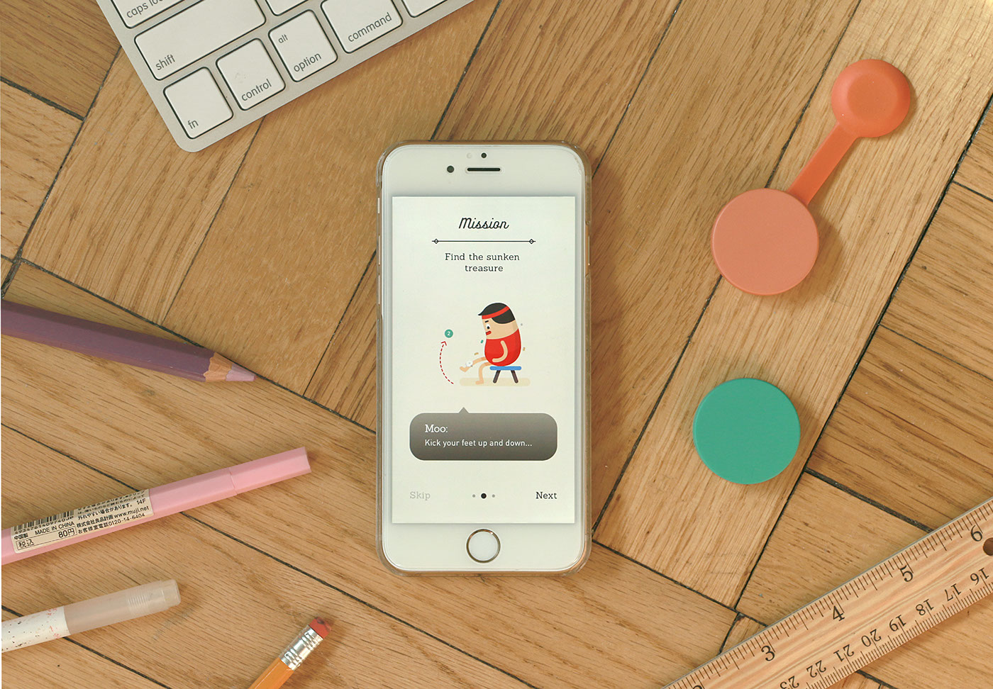 UI ux gamification app game Grapgic Design Character design  Wearable workout thesis