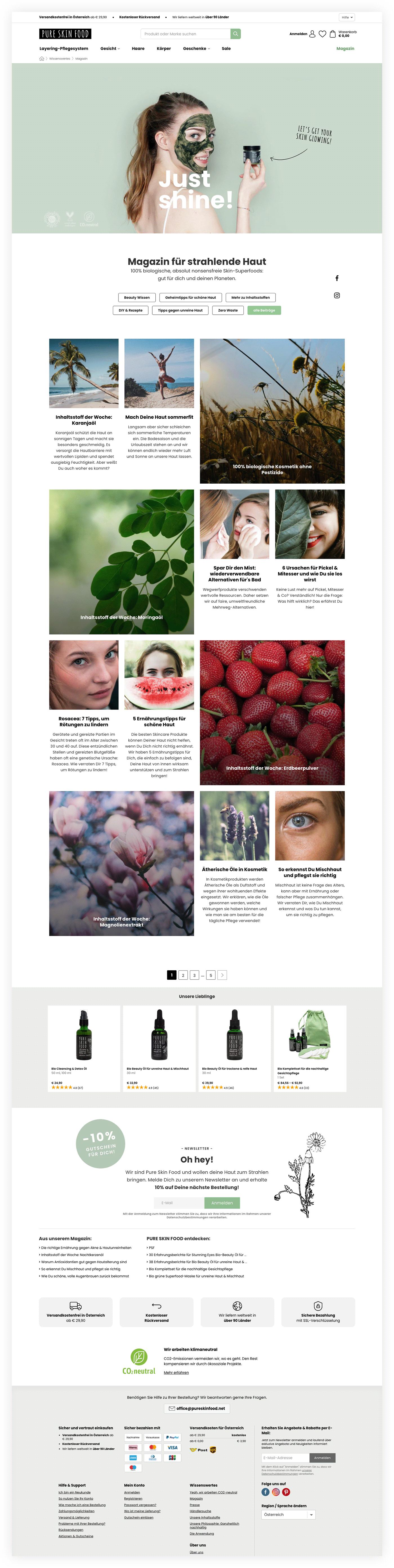 Ecommerce Naturkosmetik  niceshops webshop
