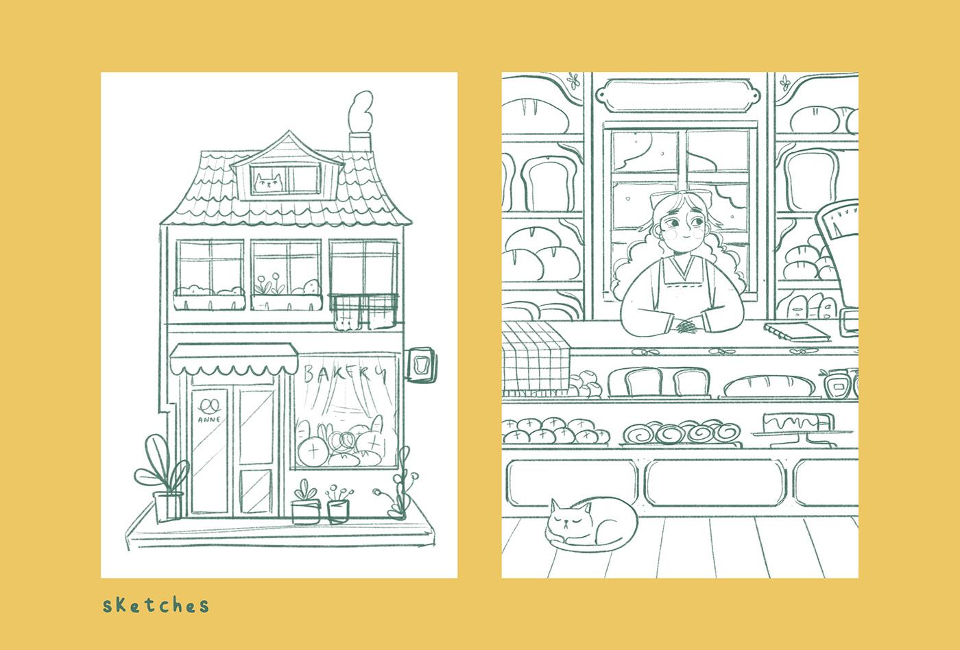 art bakery children illustration childrenbooks ILLUSTRATION  Illustration Process