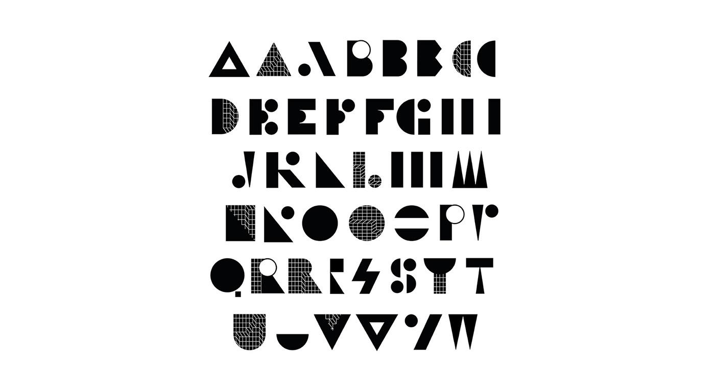 adidas sport Typeface bespoke black and white pattern grid