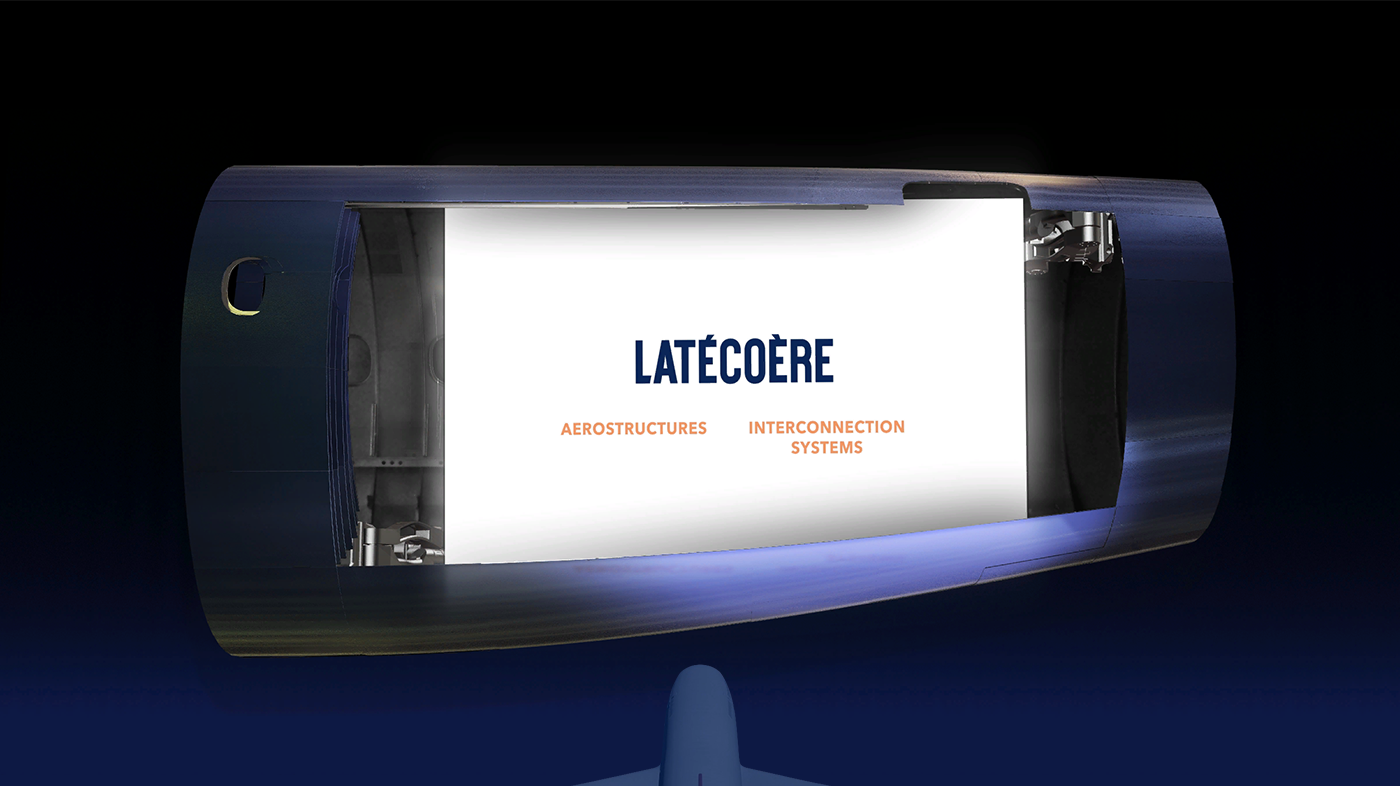 projection mapping Mapping latecoere 3d animation timelapse motion graphics  airplane fuselage anniversary 3D