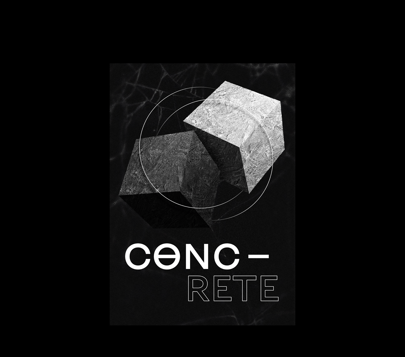 Brutalism dark experimental motion poster posters techno type typography   typography poster