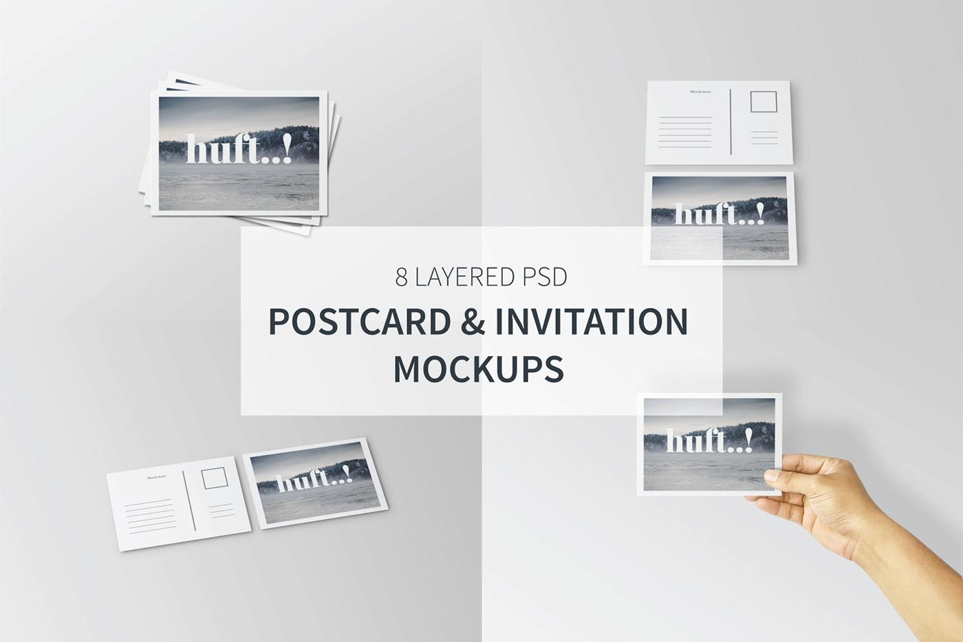 freebuy free downloa Free Mockups Invitation postcard freebies print post Lookbook