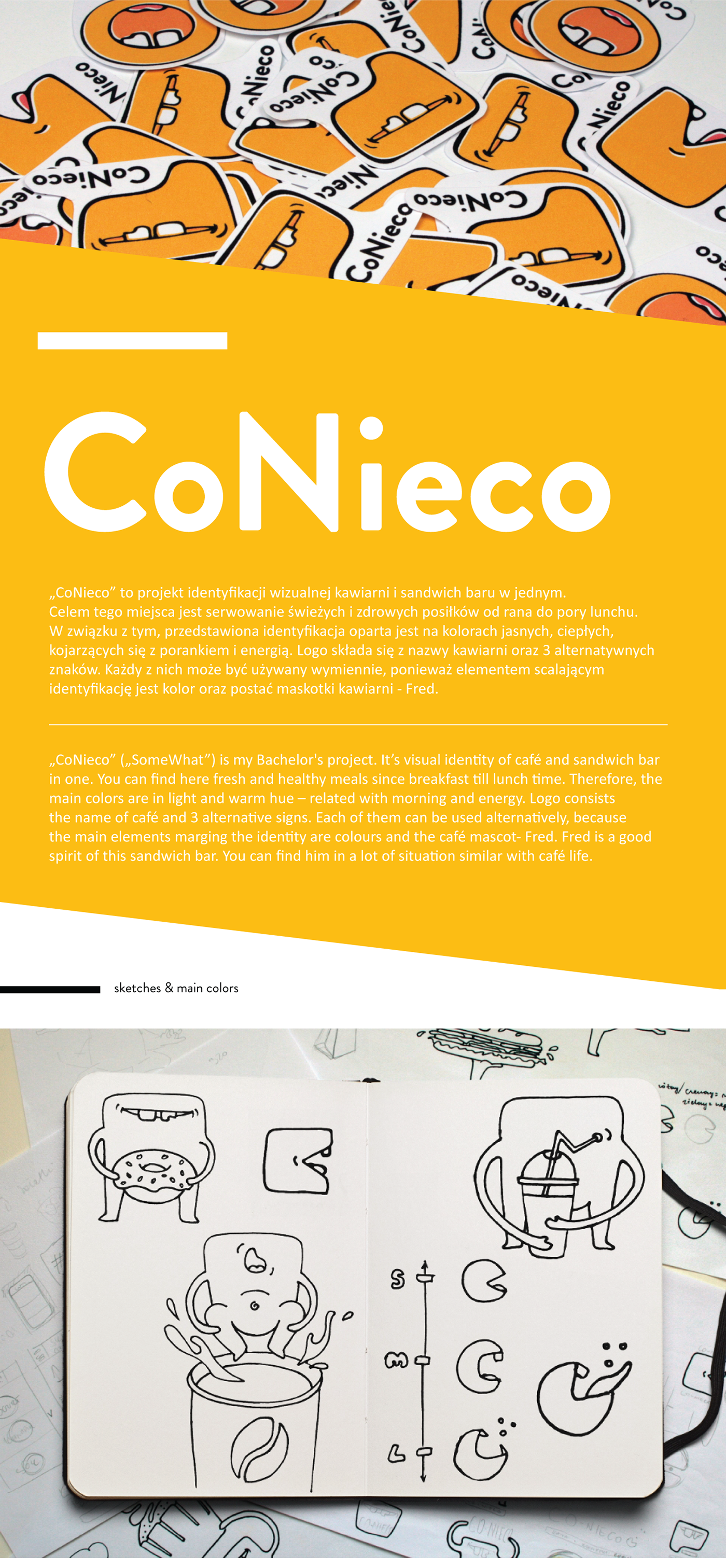 "CoNieco"" Café & Sandwich Bar Brand Identity on Behance"
