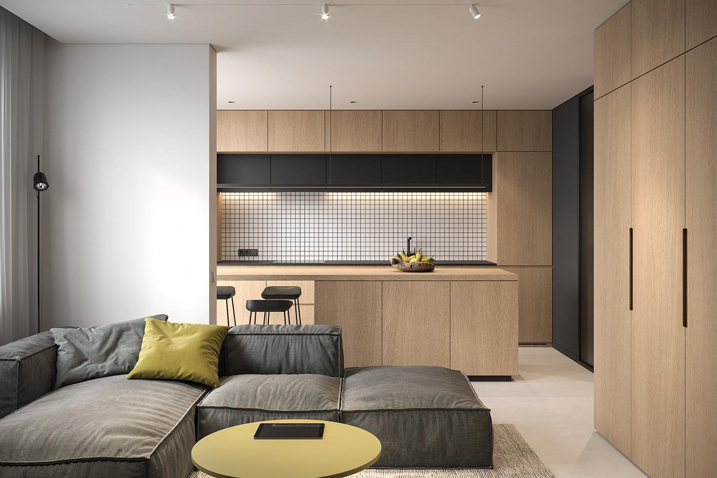Tiny Apartment on Behance
