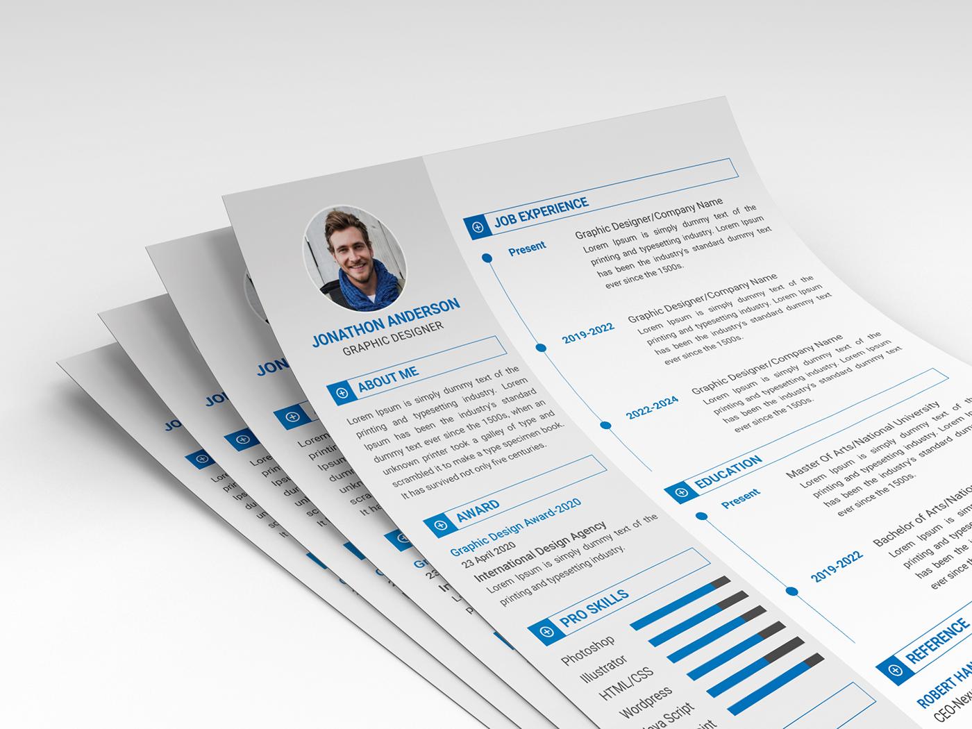 細緻的23張履歷表設計欣賞