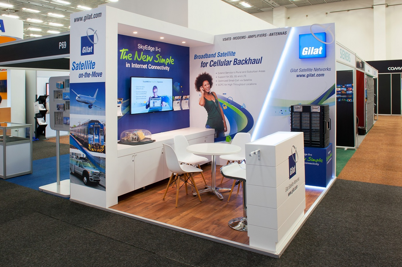 Small Exhibition Stand Quotes : Gilat africacom on behance