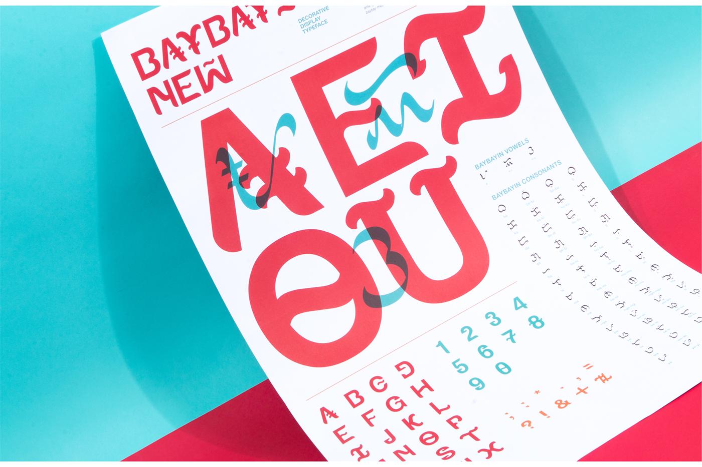 type font Baybayin Typeface typography   philippines filipino Display Script Manila
