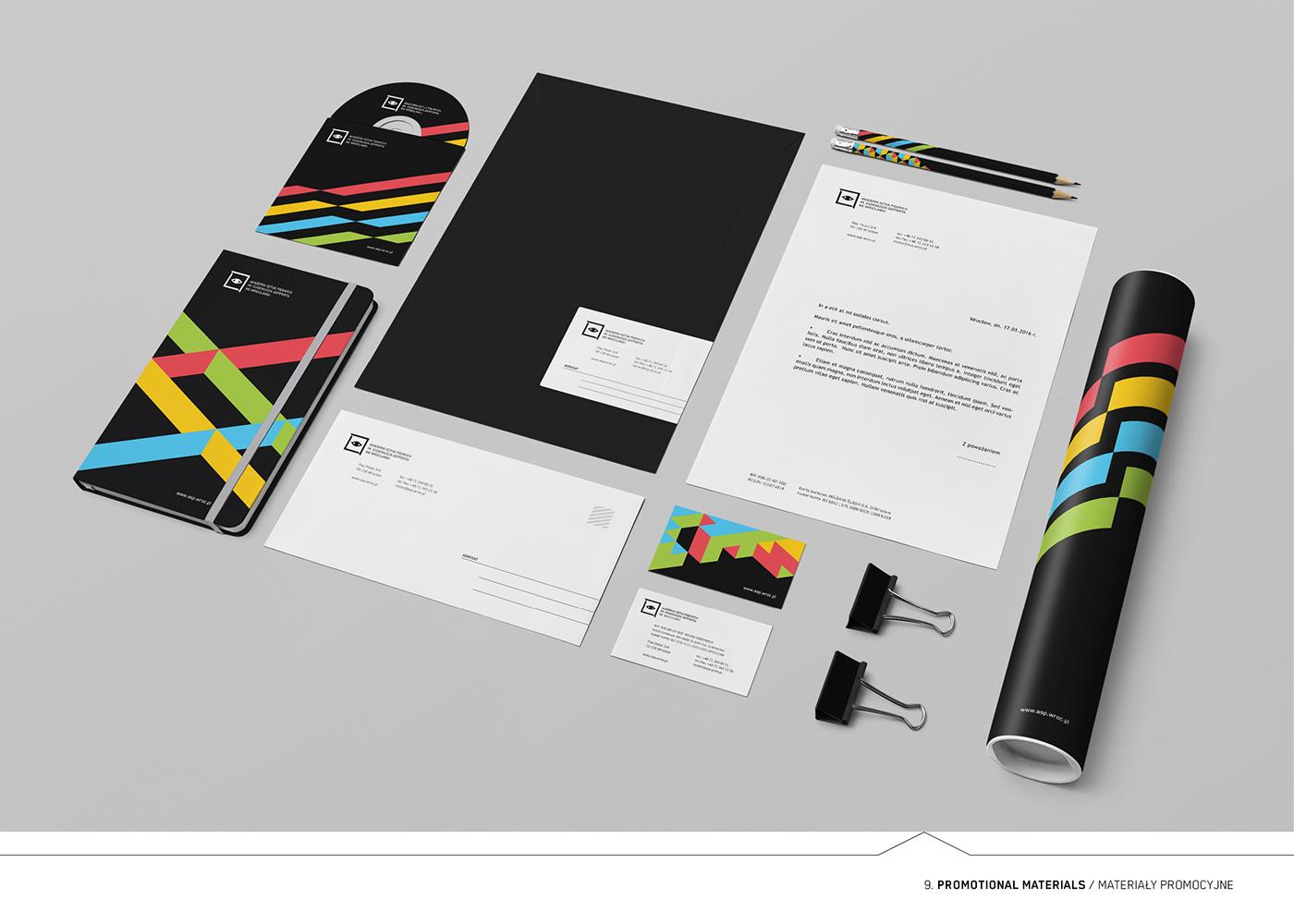 academy school fine arts art branding  wroclaw elegant rebranding design