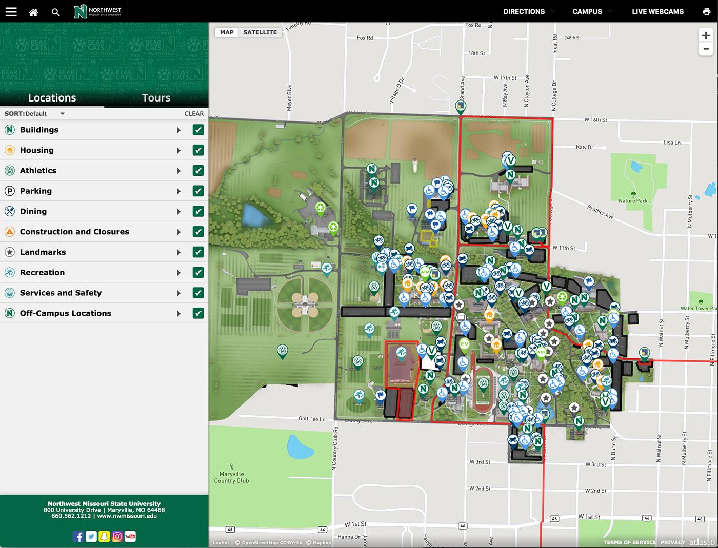 Northwest Missouri State University - Campus Map on Behance