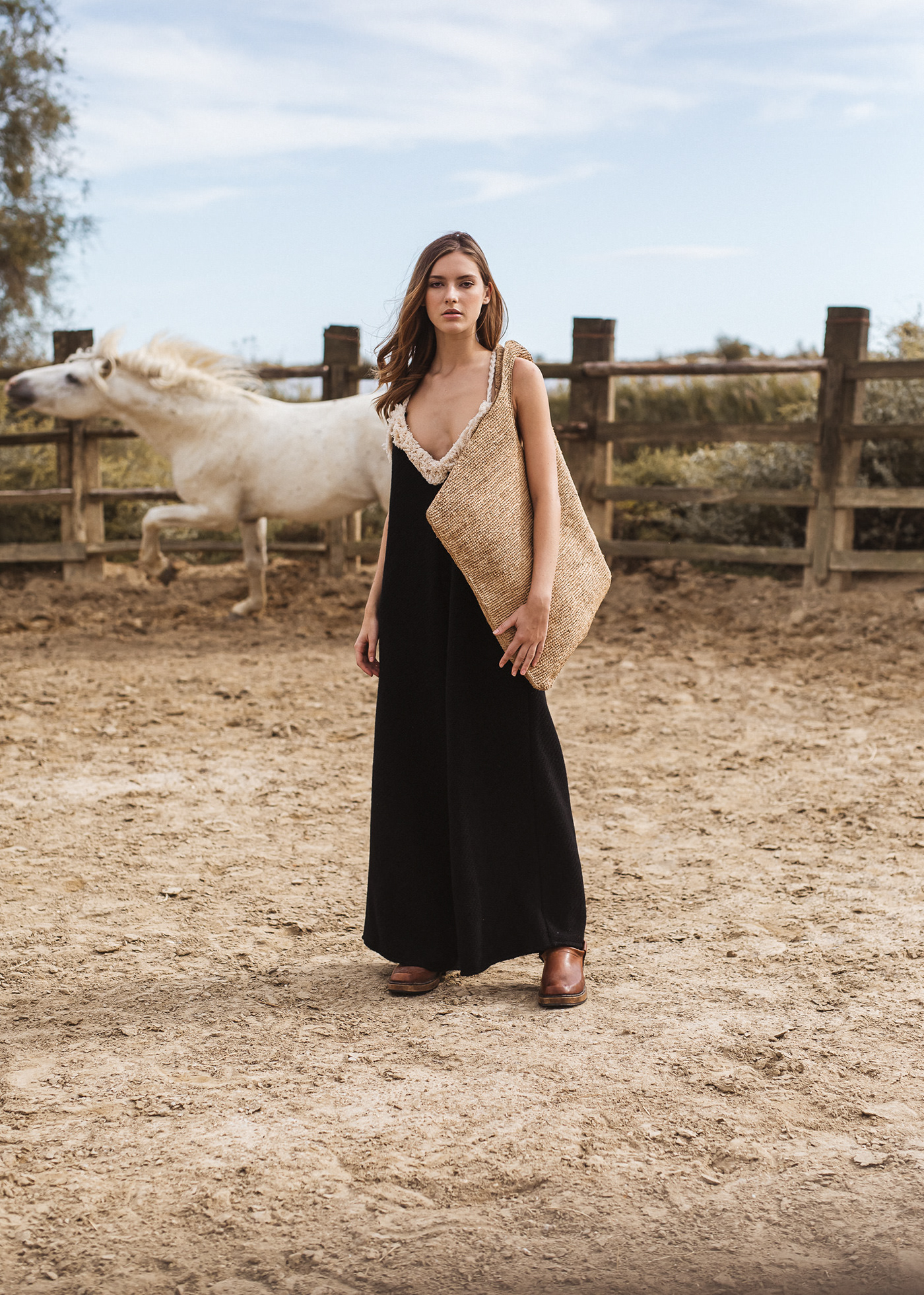 Camargue campaign cowgirl horse ranch ss2020