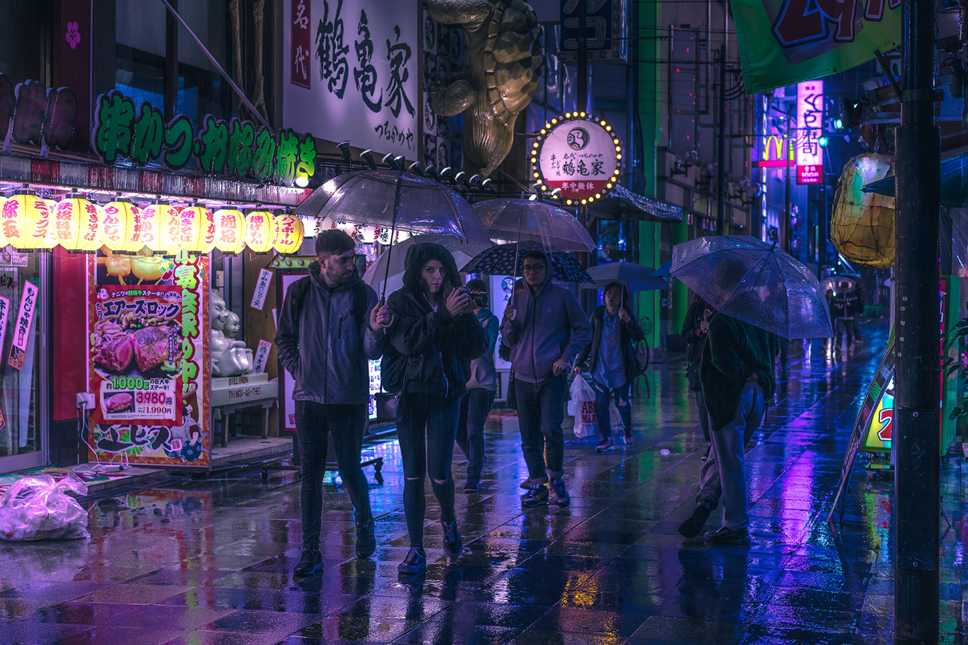 blade runner city cyber futuristic ghost in the shell japan neon night sci-fi Photography