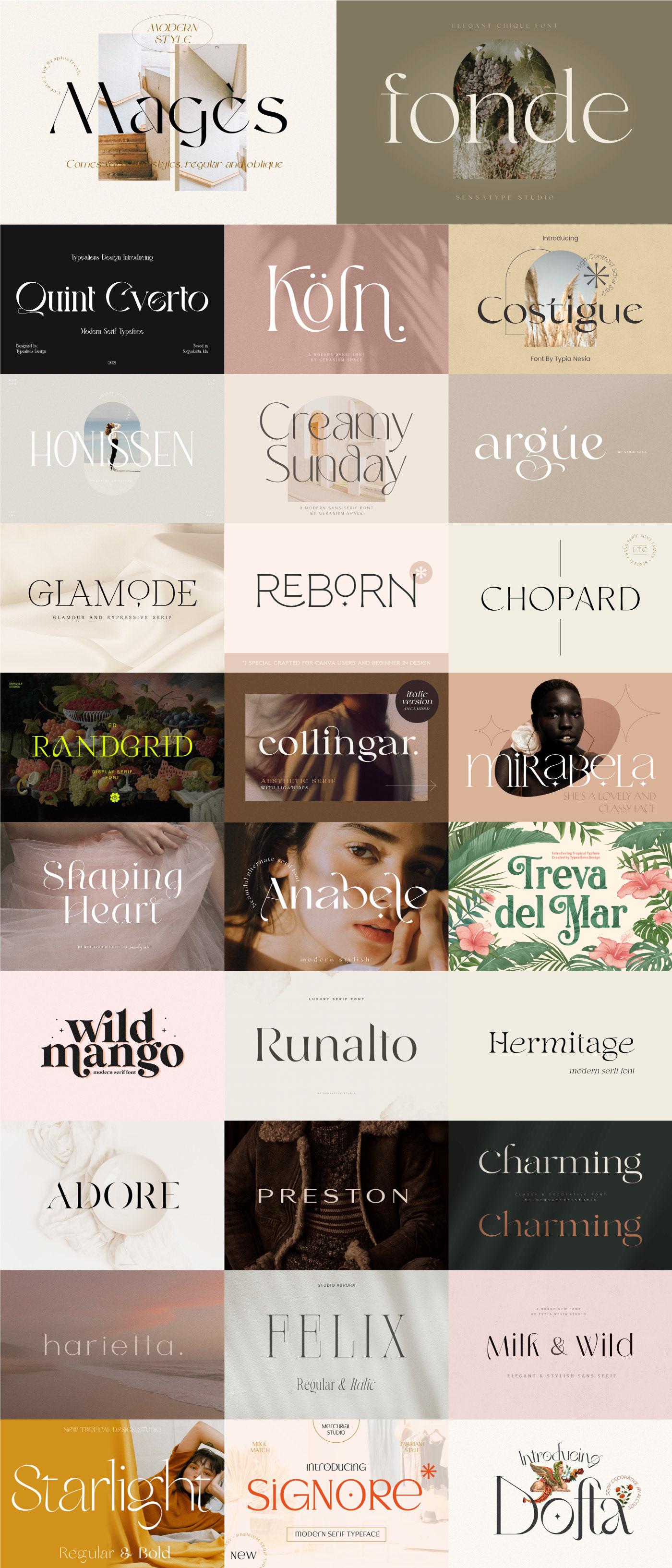 bundle chic elegant fancy free Free font ligature luxury modern serif