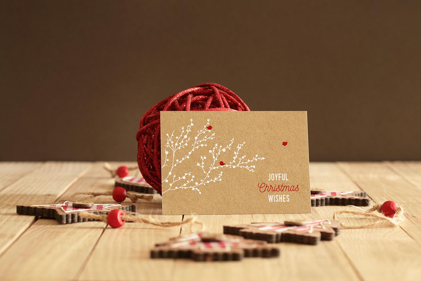 細緻的34張聖誕卡片設計欣賞