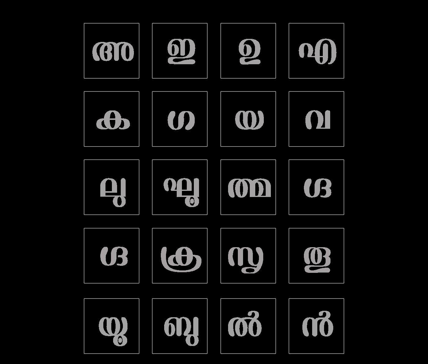 malayala  typeface unicode font ornamental heading type