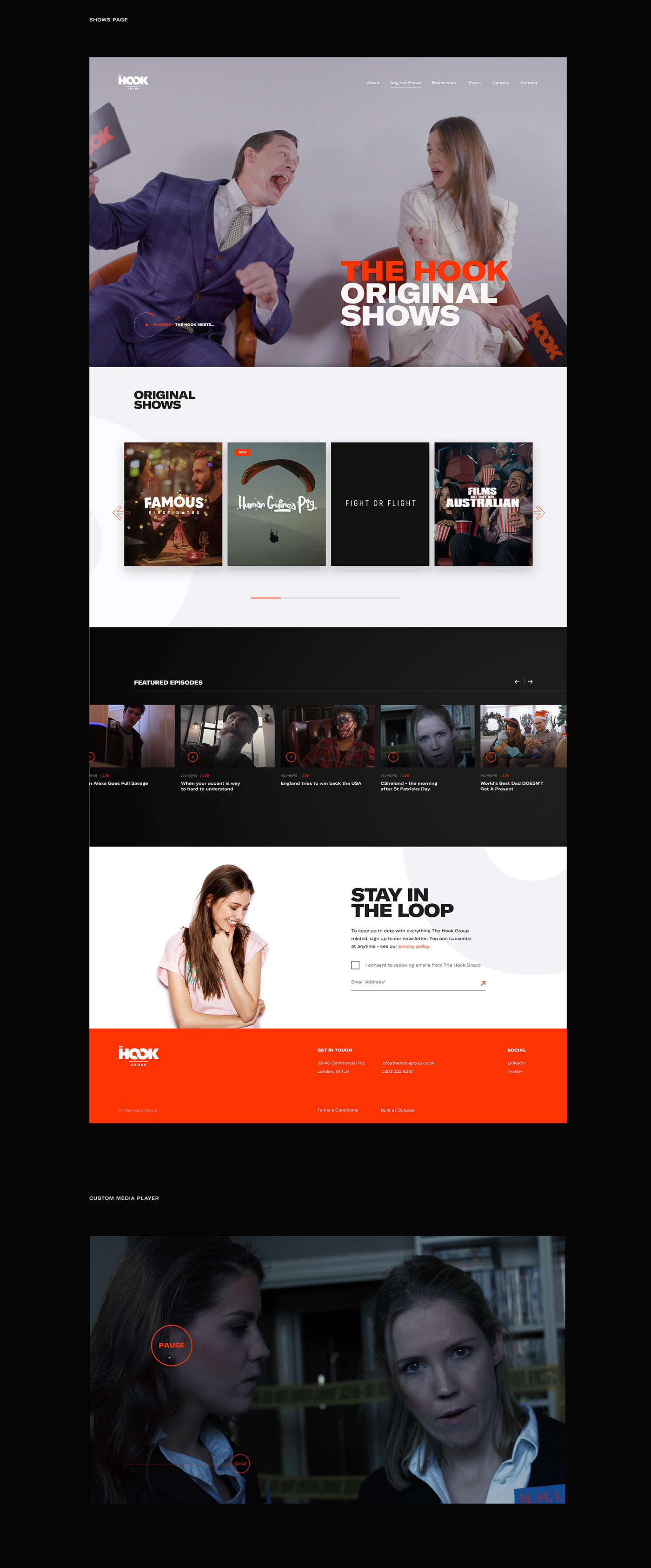 Website design interaction UI ux development interative Web Design  agency media