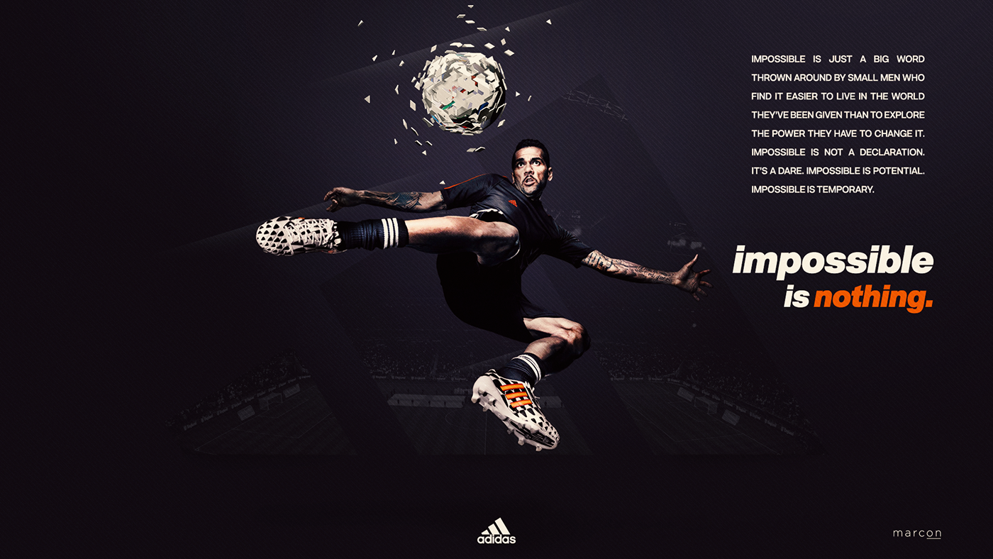 bas prix e9786 16327 Adidas - Impossible is Nothing on Behance