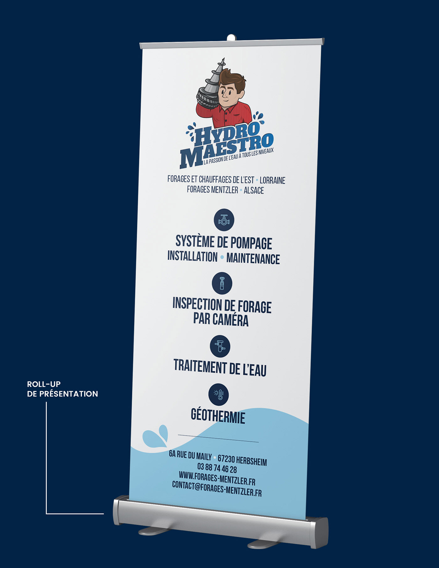 logo print mascotte forages design graphisme communication