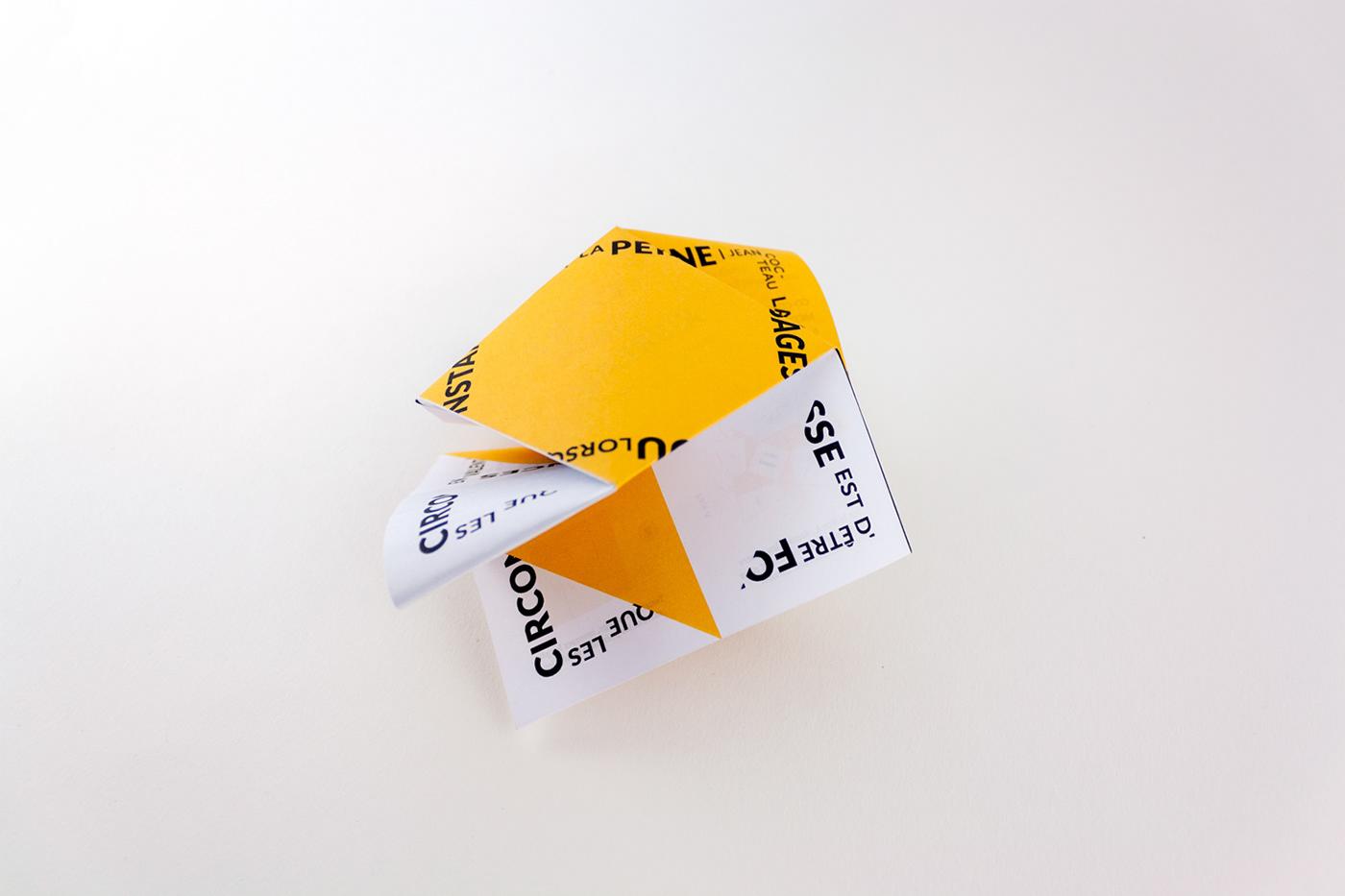 identité motifs tampons origami  tangram pliage