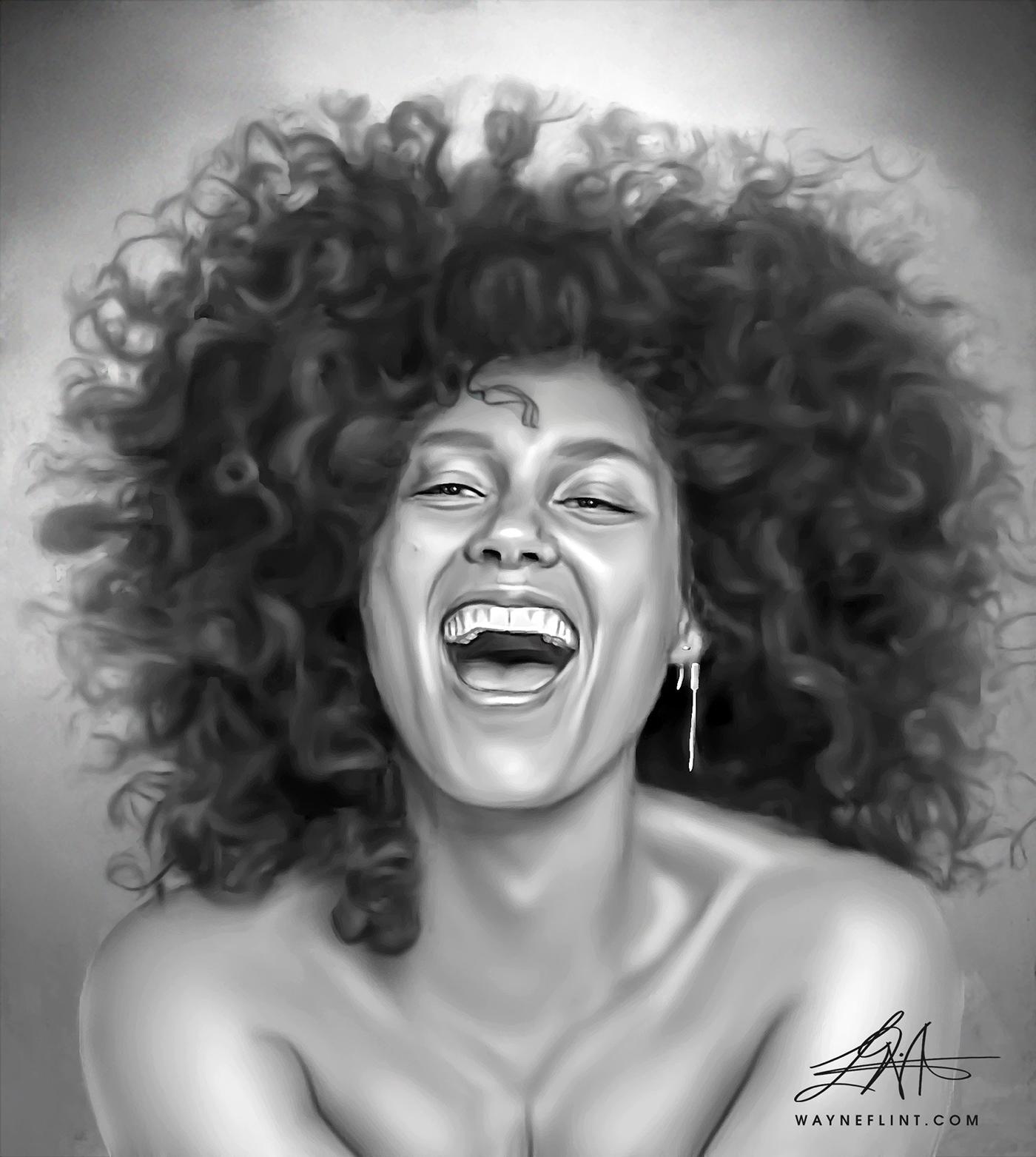 Digital Handmade Custom Portrait Painting From Photo