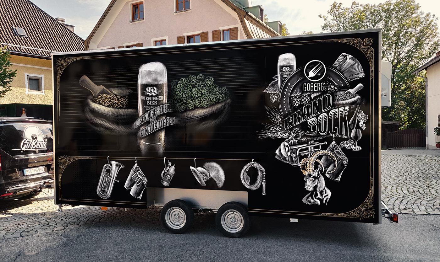 chalk drawing ILLUSTRATION  Brand Design Bavarian beer