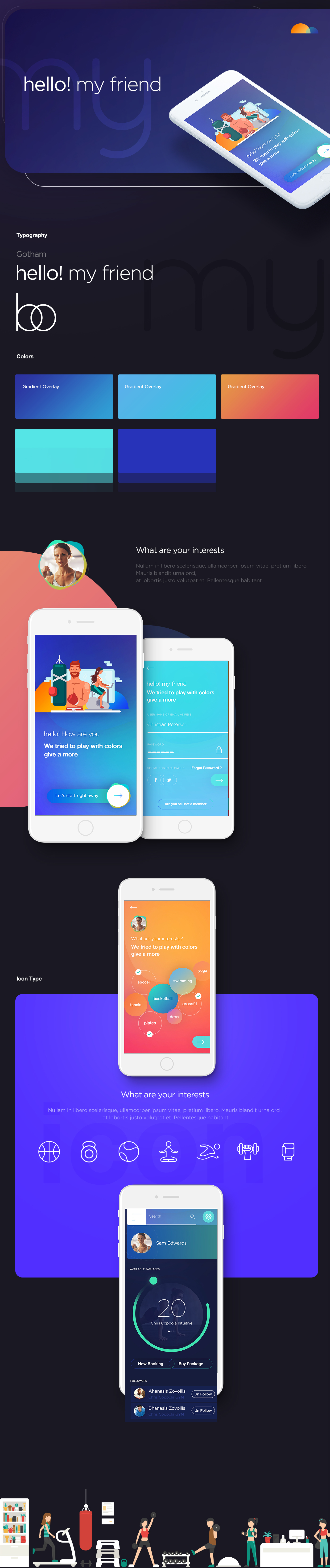 iPhone x fitness app color logo Web