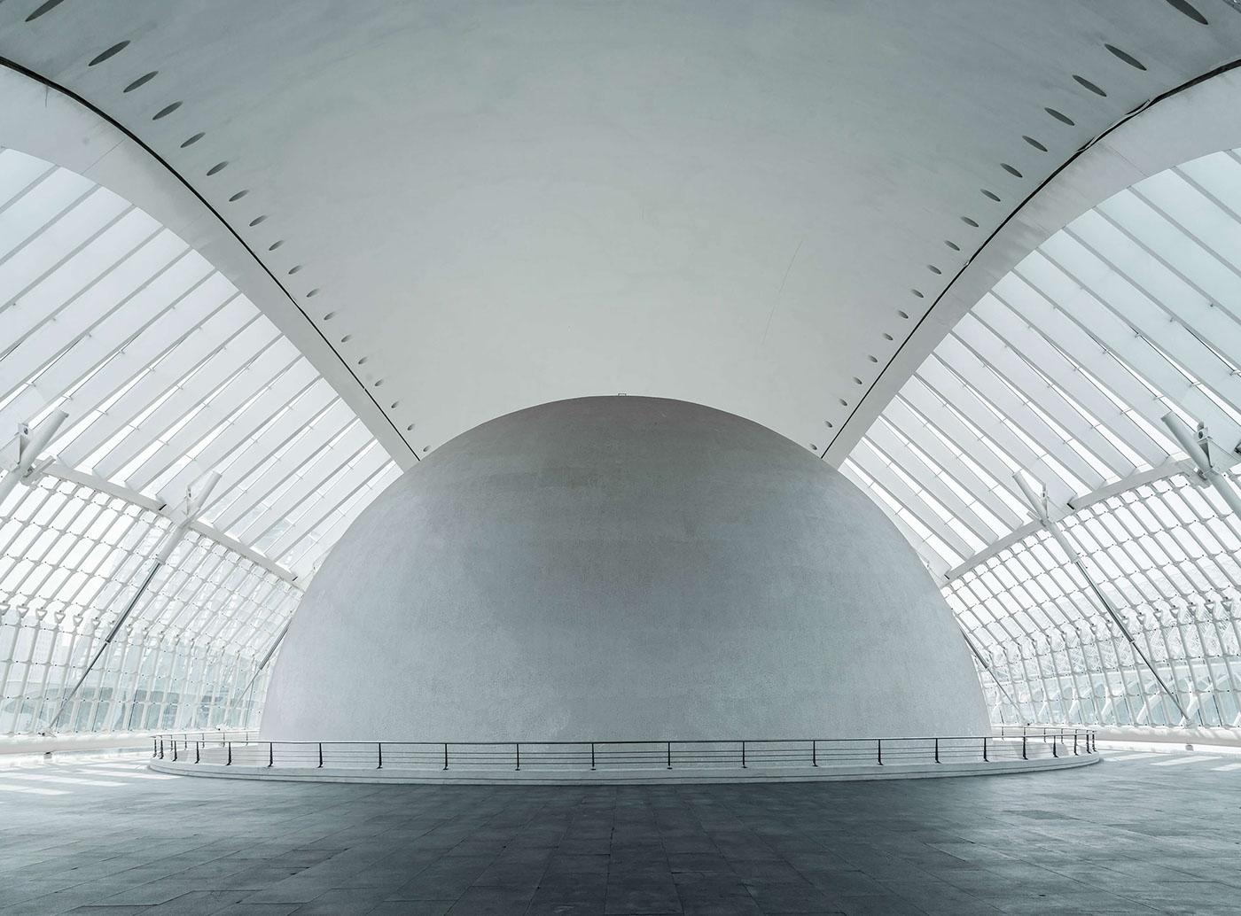 architecture clean minimal building Photography  valencia calatrava geometry geometric arch