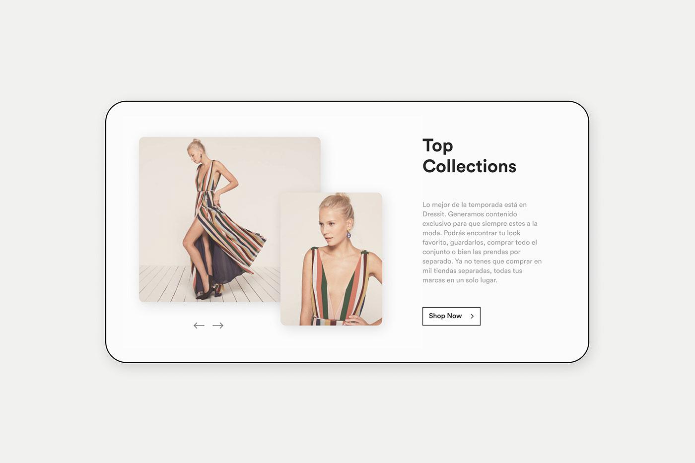 Diseño web, shopping online de moda. Fashion style.