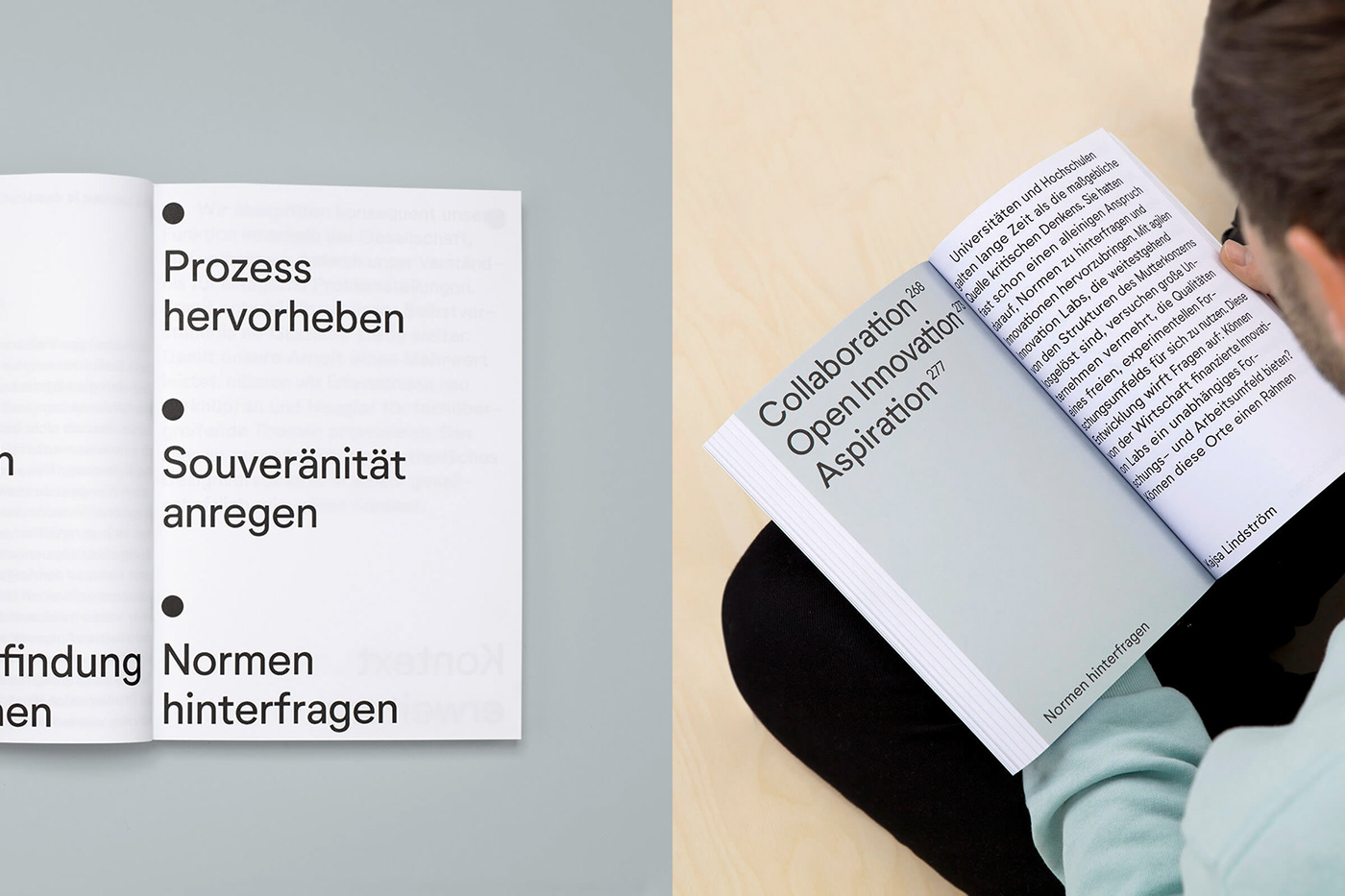 Bookdesign interview typography   Participation sticker Education future campus Master Thesis theory