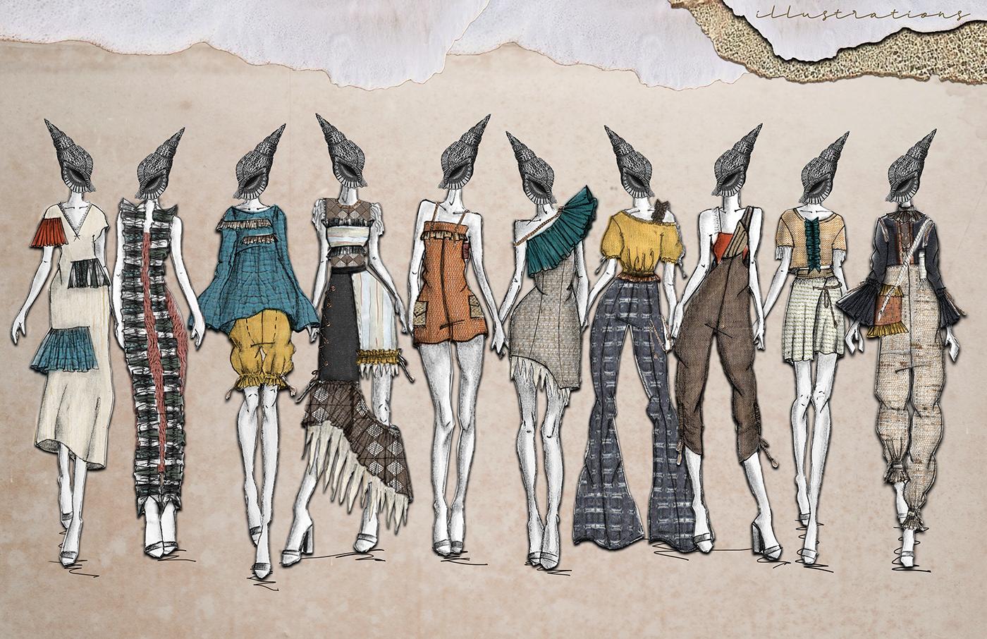 adobe illustrator Adobe Photoshop Collection concept development design portfolio design process fabric development fashion design fashion illustration Technical Design