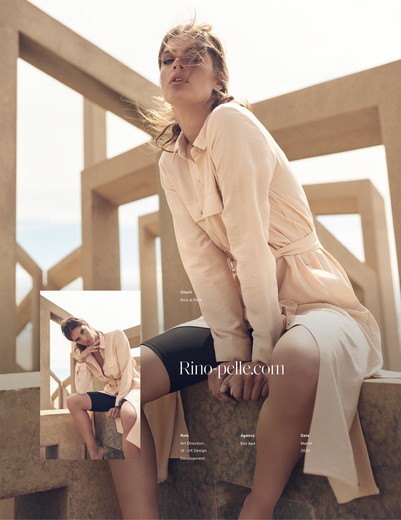 luxurious fashion website header