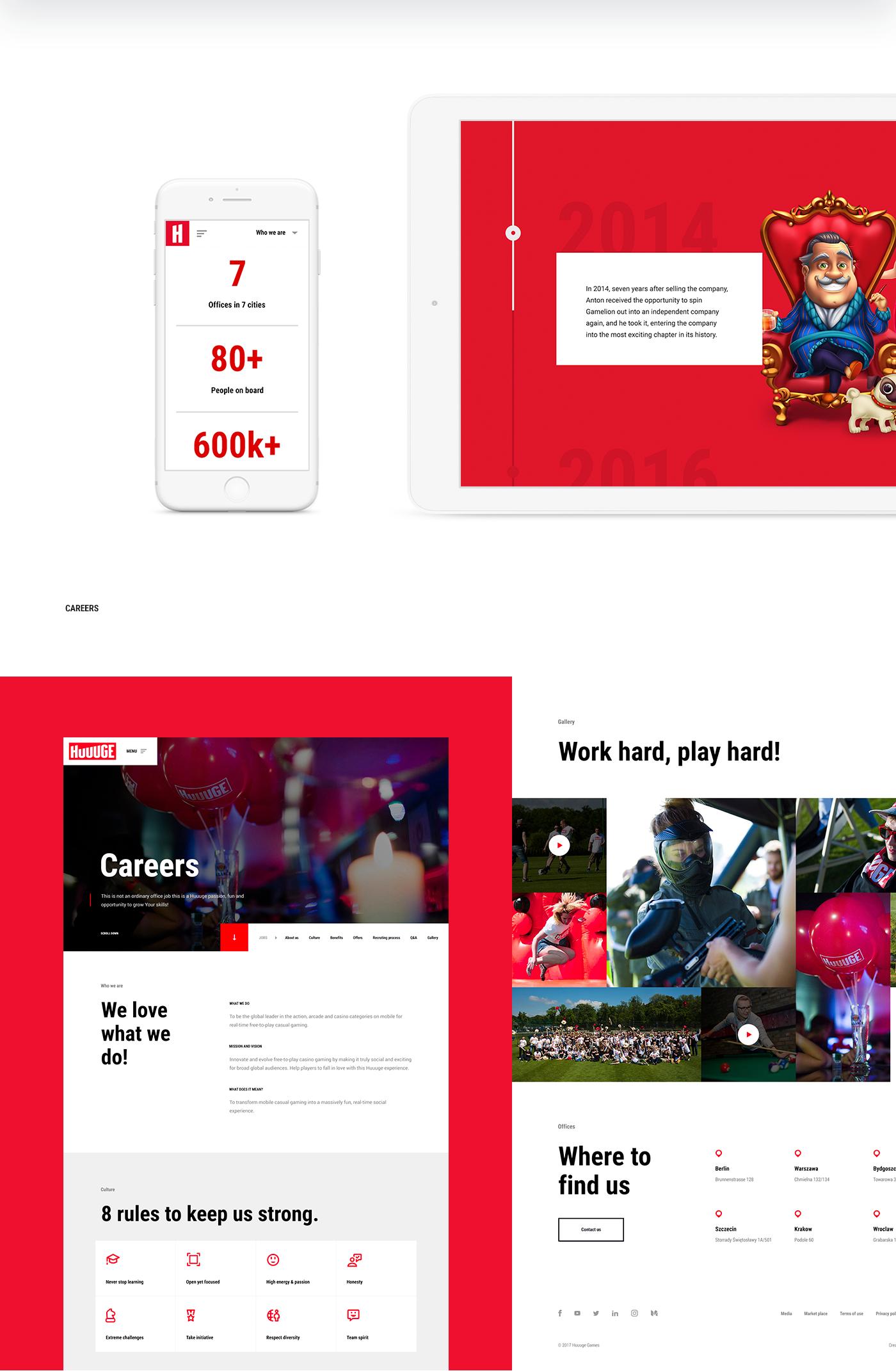 huuuge Games mobile games mobile game challenge dobies socha branding  Webdesign