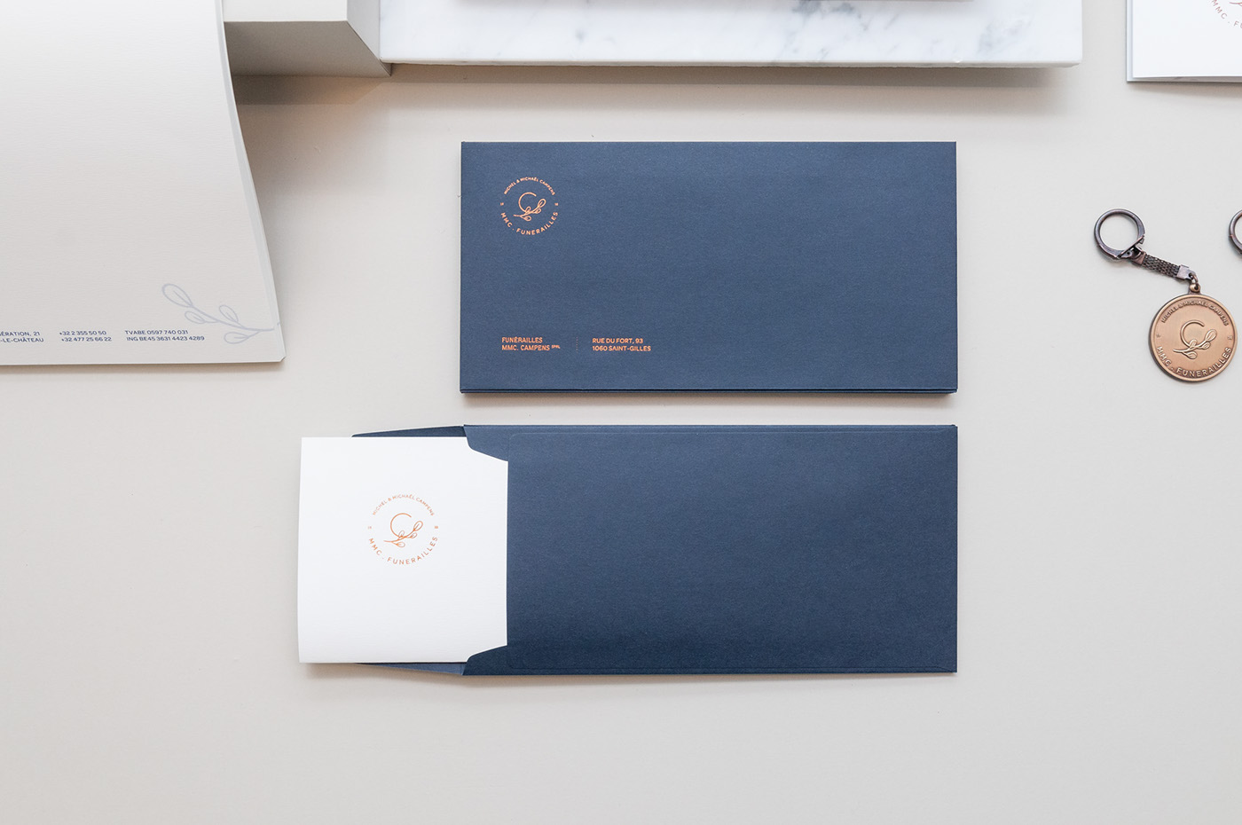 funeral copper dark blue paper sober
