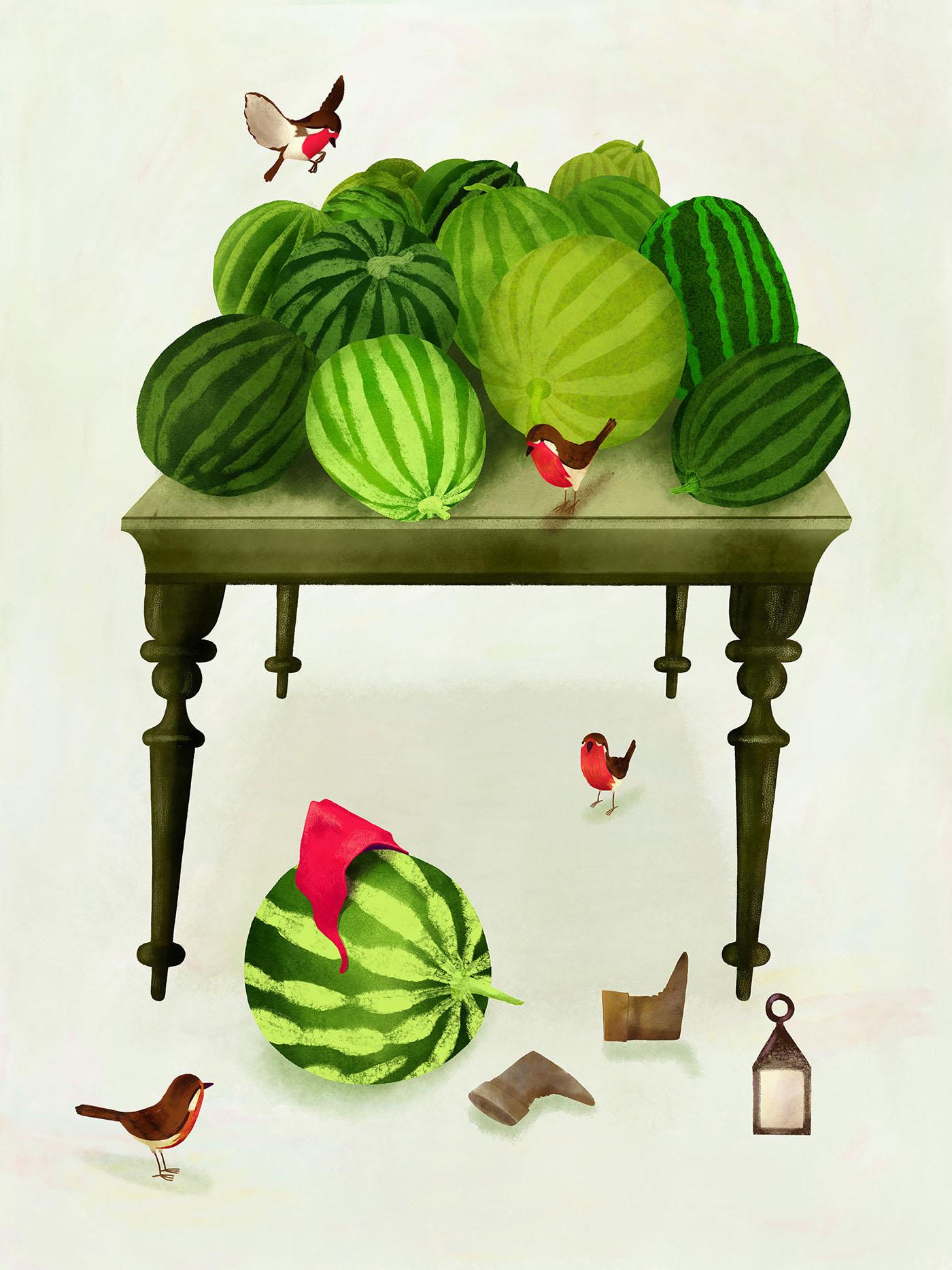 watermelons tinkertales AngINK abigoy ILLUSTRATION  storytelling   digitalart KyleBrush story