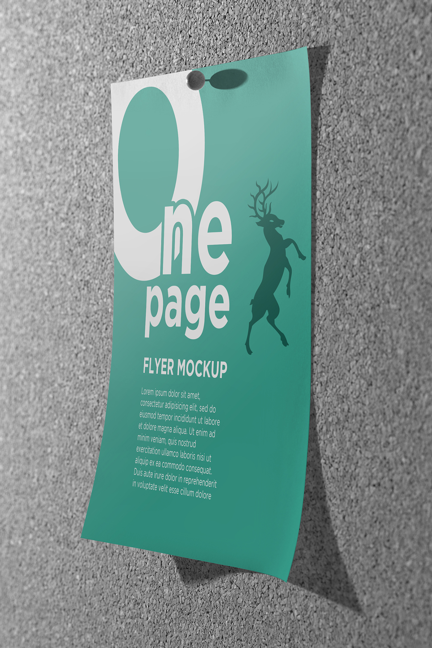 one page flyer mockups on behance