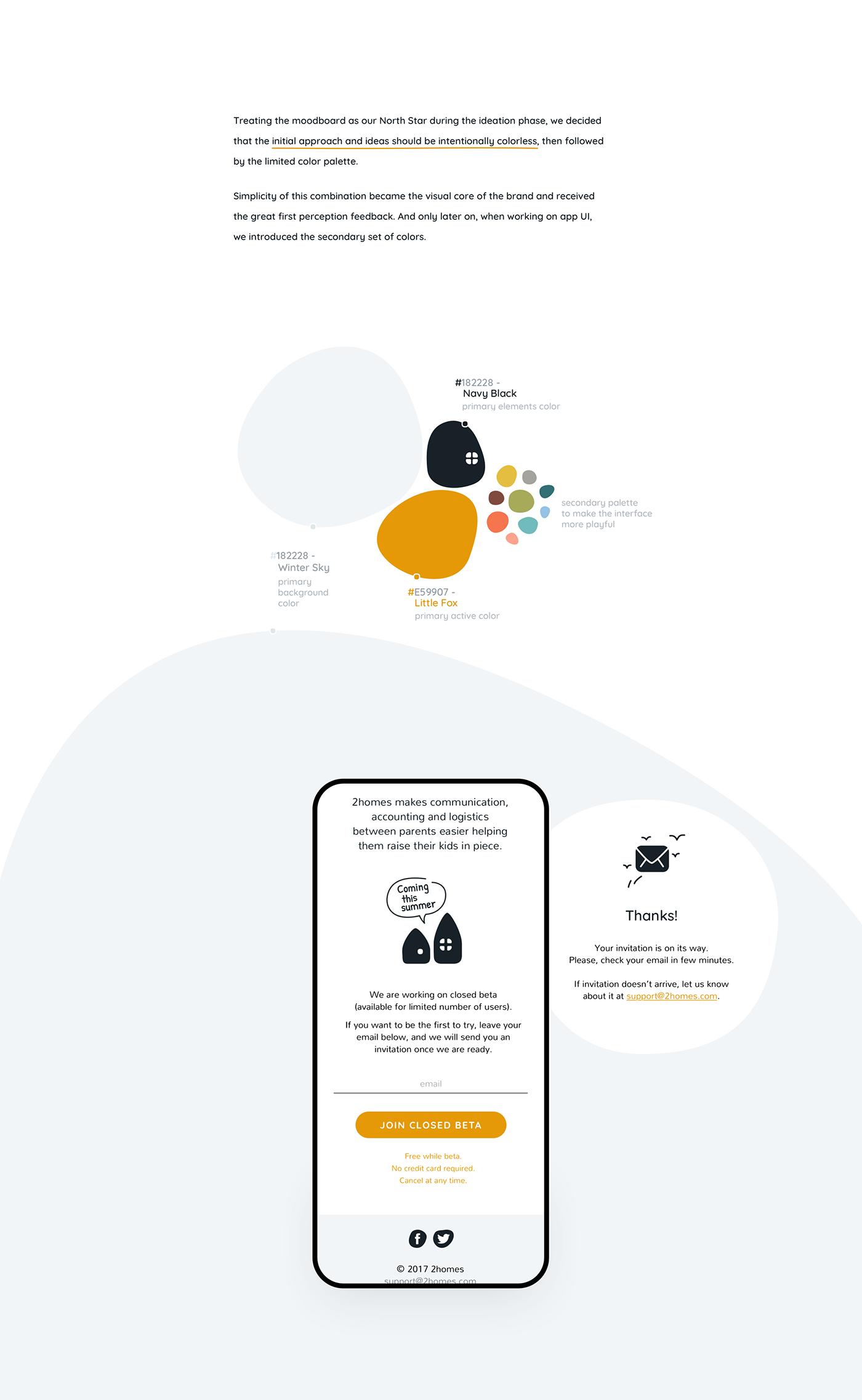 app children coparenting family kids nordic Product Branding product UI tech startup