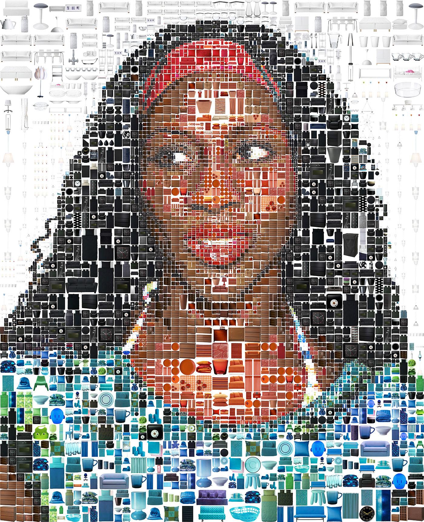 photomosaic visual design Advertising Campaign billboard gay african american social design photocollage computer graphics portraits