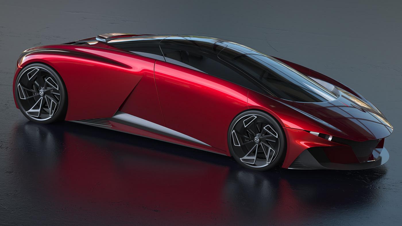 Adobe Portfolio design mazda car exterior car design Transportation Design product design  rendering sketch keyshot
