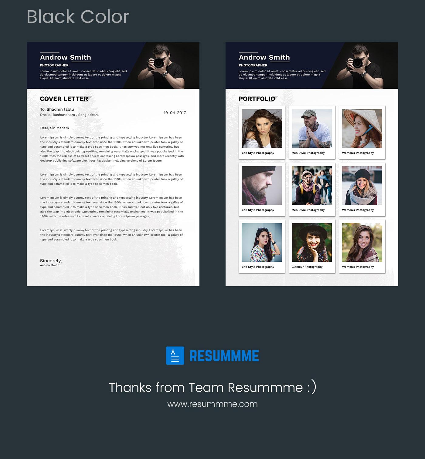 Resume CV template freebies free resummme